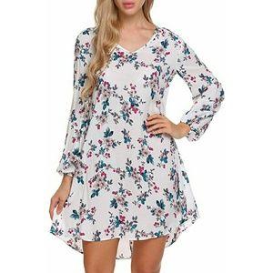 Dresses & Skirts - New Floral Print Open Back Flowy Beach Dress XL